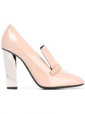 Лакированные туфли-лодочки Giuseppe Zanotti Design. Цвет: телесный