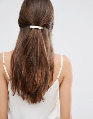 Orelia Кованая заколка‑пряжка для волос. Цвет: золотой