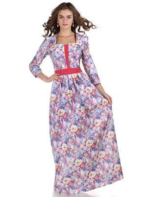 Платье OLIVEGREY. Цвет: серо-голубой, розовый