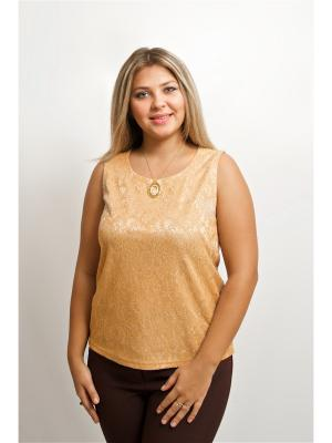 Блуза BALSAKO. Цвет: бежевый