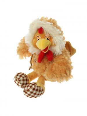 Мягкая игрушка Петушок клетчатые пяточки, 20см А М Дизайн. Цвет: терракотовый, светло-оранжевый, темно-бежевый, бежевый, светло-желтый, красный, горчичный, кремовый