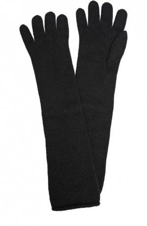 Удлиненные перчатки из кашемира Johnstons Of Elgin. Цвет: черный