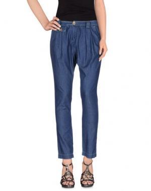 Джинсовые брюки PAOLA FRANI. Цвет: синий
