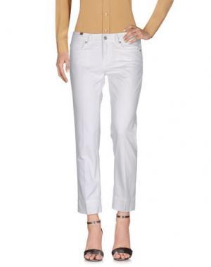Повседневные брюки NOTIFY. Цвет: белый