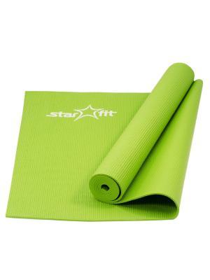 Коврик для йоги STARFIT FM-101 PVC 173x61x0,4 см, зеленый 1/20. Цвет: зеленый