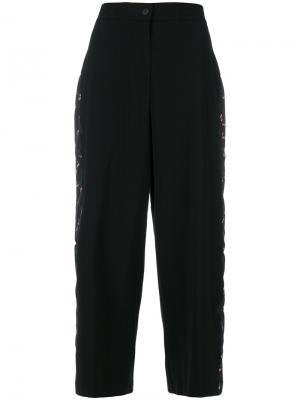 Укороченные брюки с высокой талией Vivetta. Цвет: чёрный