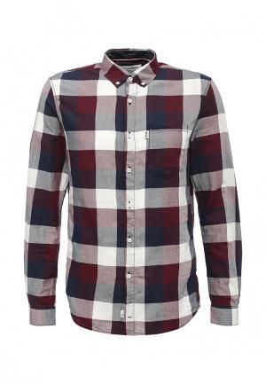 Рубашка Tom Tailor Denim. Цвет: бордовый