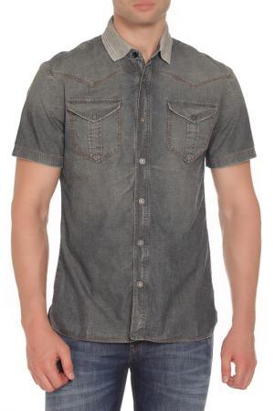 Рубашка Galliano. Цвет: серый