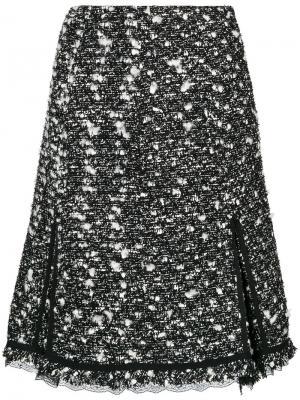 Твидовая юбка с завышенной талией Giambattista Valli. Цвет: чёрный