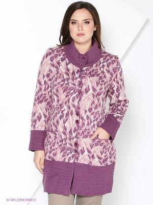 Пальто Milana Style. Цвет: сливовый, розовый