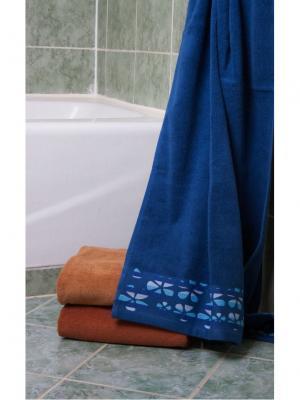 Полотенце махровое 80х140 Треболь синее TOALLA. Цвет: синий