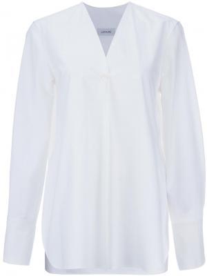 Классическая рубашка Lemaire. Цвет: белый