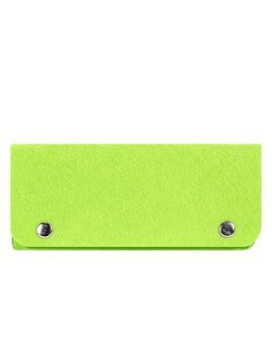 Косметичка фетровая на клепках IQ Format. Цвет: зеленый