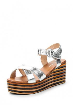 Босоножки Sweet Shoes. Цвет: серебряный