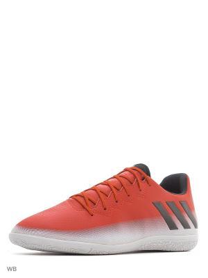Футбольные бутсы (для зала) муж. MESSI 16.3 IN Adidas. Цвет: красный
