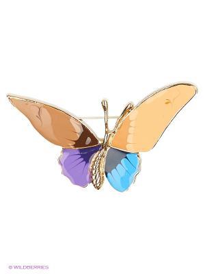 Брошь Lovely Jewelry. Цвет: голубой, фиолетовый