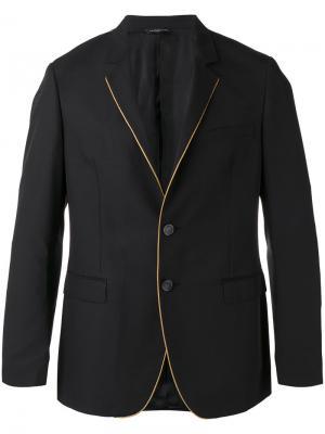 Contrasting pipping blazer Tonello. Цвет: чёрный