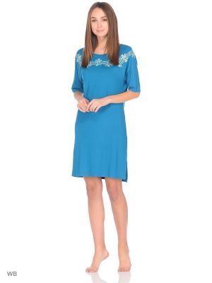 Ночная сорочка Mix Mode. Цвет: синий, голубой