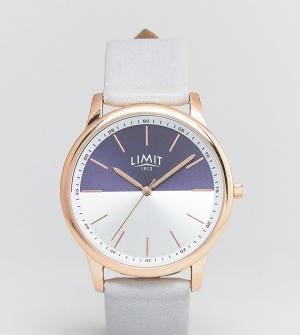 Limit Часы с серым кожаным ремешком эксклюзивно для ASOS. Цвет: серый