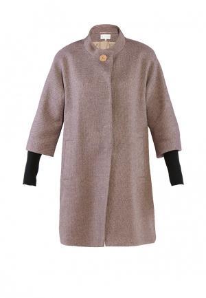 Пальто Петербургский стиль. Цвет: коричневый
