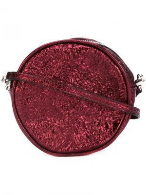 Круглая сумка через плечо Zilla. Цвет: красный
