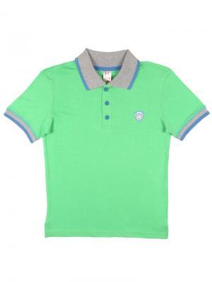 Рубашка-поло для мальчика Cherubino. Цвет: зеленый