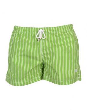 Пляжные брюки и шорты LUIGI BORRELLI NAPOLI. Цвет: светло-зеленый