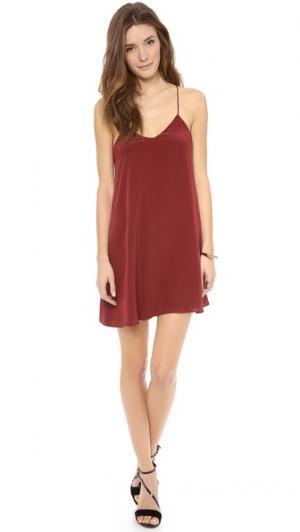 Платье-комбинация Charles Henry. Цвет: ягода