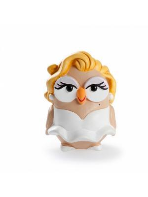 Керамическая статуэтка сова Мэрилин Монро, Goofi. Цвет: белый