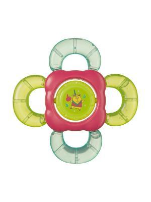 Прорезыватель-погремушка с водой TEETHER RATTLE Happy Baby. Цвет: светло-зеленый, малиновый, салатовый, светло-голубой