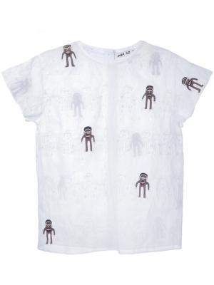 Блузка с вышивкой Jupe By Jackie. Цвет: белый