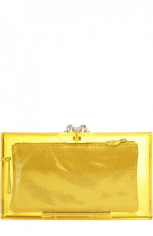 Клатч Pandora Colour Charlotte Olympia. Цвет: желтый