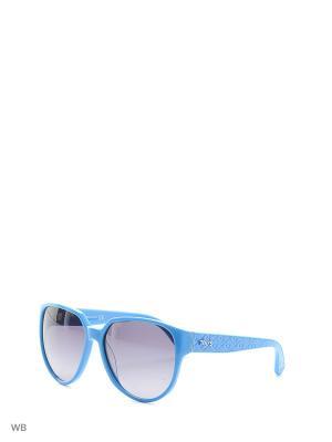 Солнцезащитные очки TO 0087 84B Tod's. Цвет: голубой