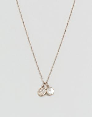 Emporio Armani Ожерелье с подвеской-логотипом. Цвет: золотой