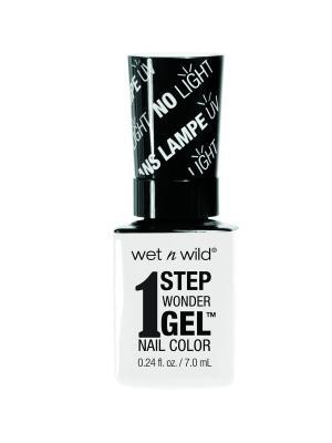 Гель-лак для ногтей 1 Step Wonder Gel E7011 flying colors Wet n Wild. Цвет: белый