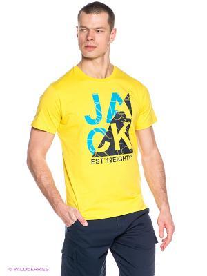 Футболка Jack Wolfskin. Цвет: желтый