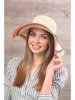 Шляпа Krife. Цвет: светло-бежевый, оранжевый, черный