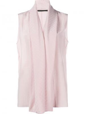 Блузка с воротником-шалькой Haider Ackermann. Цвет: розовый и фиолетовый