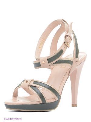 Босоножки Moda Donna. Цвет: бледно-розовый, темно-серый