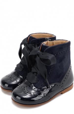 Комбинированные ботинки с брогированием Clarys. Цвет: синий