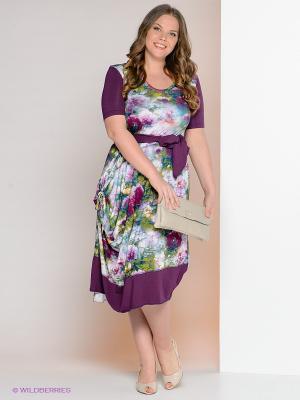 Платье МадаМ Т. Цвет: зеленый, фиолетовый