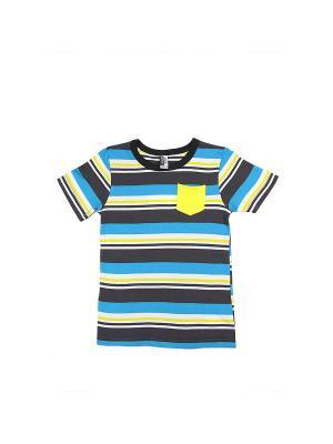 Футболка LAVIDO. Цвет: серый, голубой, желтый, белый