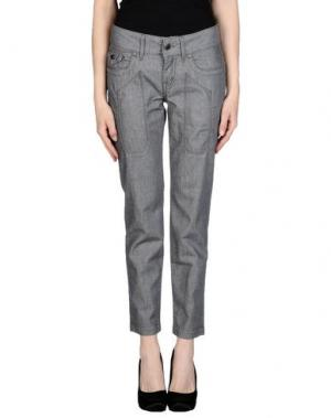 Джинсовые брюки JECKERSON. Цвет: серый