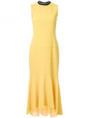 Платье Breakers с контрастной горловиной Rebecca Vallance. Цвет: жёлтый и оранжевый