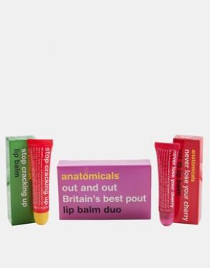 Anatomicals Два бальзама для губ , 2 x 15 мл. Цвет: бесцветный