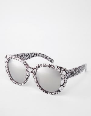 Quay Australia Мраморные солнцезащитные очки St Capri. Цвет: белый