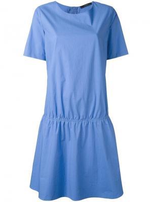 Платье с заниженной талией Odeeh. Цвет: синий