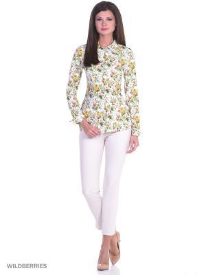 Приталенная блузка батник с отворотами манжеты RIJJINI. Цвет: хаки, оливковый, терракотовый, коричневый, светло-коралловый, бледно-розовый, светло-желтый, горчичный, белый