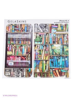 Наклейка Bookshelf for 4/4S Kawaii Factory. Цвет: синий, зеленый, коричневый