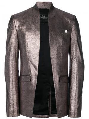 Пиджак без застежки Unconditional. Цвет: металлический